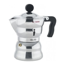 "Alessi - Alessi ""Moka Alessi"" Espresso Coffee Maker - Ciao, bella! This enchanting and fully functional espresso maker brings an element of intimacy to your morning ritual. Feel like a bona fide Italiano with this impossibly cute, hands on machine. Due cappuccini, per favore!"