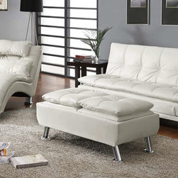 Stylish Seating - Sofa Bed White Chaise