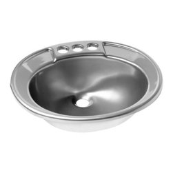 "Lyons Industries - Lavatory Sink, 19.5""L x 17""W Single Bowl 6"" Deep Acrylic, Drop-in Sink - Lyons Industries acrylic Drop-In style Lavatory sink with a 6"" deep bowl. This self rimming 19.5"" x 17"" sink is easy to install and is convenient for use with laminate, Granite, wood or solid surface vanity tops. The Drop in Lavatory sinks have two convenient integral soap dishes and 4"" faucet centers. This sturdy sink has durable easy to clean high gloss acrylic construction with a fiberglass reinforced insulation backer. This sink is quiet and provides a superior heat retention than other sink materials. Lyons sinks come with a simple mounting tab and clip system to firmly fasten the sink to the countertop and reinforced drain areas Detailed installation instructions include the cut-out specifications. Lyons sinks are proudly made in America by experienced artisans supporting our economy."