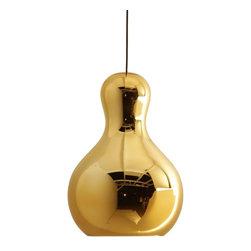 Modernist Calabash Pendant Lamp Gold - Modernist Calabash Pendant Lamp Gold