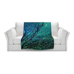DiaNoche Designs - Throw Blanket Fleece - Magical Night - Original Artwork printed to an ultra soft fleece Blanket for a unique look and feel of your living room couch or bedroom space.  DiaNoche Designs uses images from artists all over the world to create Illuminated art, Canvas Art, Sheets, Pillows, Duvets, Blankets and many other items that you can print to.  Every purchase supports an artist!