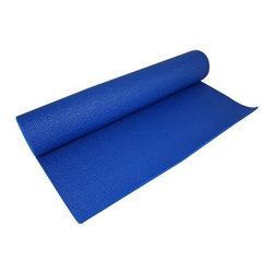 "Yoga Direct Blue Yoga Mat - Nothing gets you saying """"Namaste"""" like the Yoga Direct Blue Yoga Mat. A non-slip surface prevents you from falling during challenging poses while phthalate-free ink keeps both you and the environment safe. Choose from two sizes to match your physical needs and also from two thicknesses to match your skill level. The .25-inch thickness provides lots of cushioning for experienced users to protect joints while the .125-inch thickness is meant for beginner yogis as it allows for less mat surface between the user and the floor.About Yoga DirectSince its launch in 1999 Yoga Direct has been bringing customers the highest quality exercise accessories at reasonable prices making it one of the fitness industry's leaders in affordable wellness. Its owners and creators are web and retail professionals who understand that a company dedicated to customer service low price points and quality control is a customer's best friend. From mats and bags to balls and blocks Yoga Direct is as committed to your physical health as it is to your financial stability. And because all we have is our planet Yoga Direct offers a complete line of eco-friendly products for our green friends."