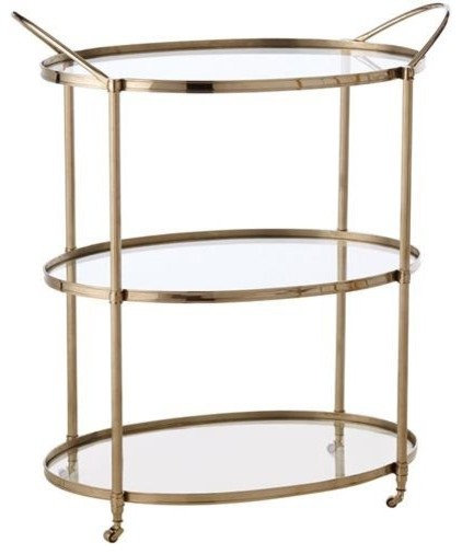 traditional bar carts by Candelabra