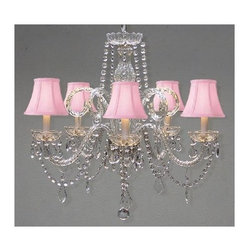 Gallery - Gallery T40-137 5 Light 1 Tier Crystal Chandelier - Features: