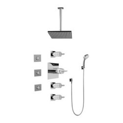 Graff - Graff - Contemporary Square Thermostatic Set  - GC1.131A-C14S-PC - Includes Rough & Trim