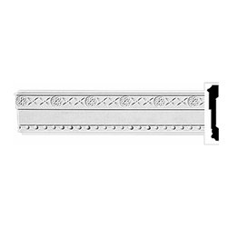 """Renovators Supply - Crown Moldings White Urethane Ornate Fairfax Crown Molding   11634 - Crown Moldings: Made of virtually indestructible high-density urethane our crown molding is cast from steel molds guaranteeing the highest quality on the market. High-precision steel molds provide a higher quality pattern consistency, design clarity and overall strength and durability. Lightweight they are easily installed with no special skills. Unlike plaster or wood urethane is resistant to cracking, warping or peeling.  Factory-primed our crown molding is ready for finishing.  Measures 96"""" x 3""""."""