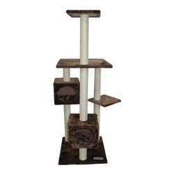 Kitty Mansions Manhattan Faux Fur Type Cat Tree - This is a great accessory for your feline friends to scratch and climb.
