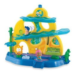 Fisher Price - Fisher-Price Bubble Guppies School Playset - The Bubble Guppies School Playset offers hours of exciting play for your child. Fun ramps and an elevator help to get Molly and Gil off to class. Then, listen to their teacher, Mr. Grouper, speak. Next, sing songs at lunch, and go to a school dance party!