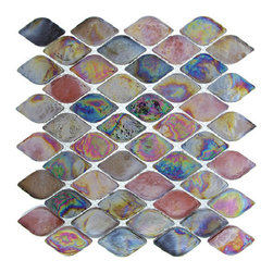 "Nova - Nova Glass Tile Aquatica Rainbow Trout, Box - 10 sheets per box. Each sheet 10""x10"""