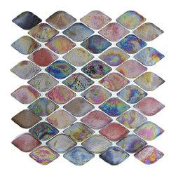 """Nova - Nova Glass Tile Aquatica Rainbow Trout, Box - 10 sheets per box. Each sheet 10""""x10"""""""