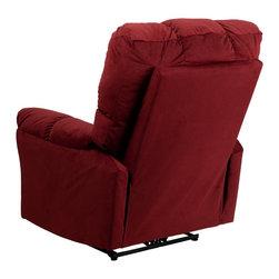 Flash Furniture - Flash Furniture Recliners Microfiber Recliners X-GG-0714-0239P-MA - Contemporary Top Hat Coffee Microfiber Power Recliner [AM-P9320-4170-GG]