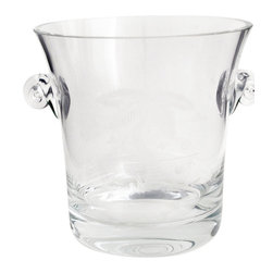 ORourke cut glass - Palm tree hand cut glass champagne bucket - Offering this beautiful hand engraved ice bucket with palm tree