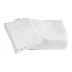 """Mayfield 300 Thread Count Cotton Fitted Sheet 3/4 Full 48"""" x 75"""" White - Wrap yourself in the softness of our 300 Thread Count Fitted Sheet. Woven of 100% Cotton, this fitted sheet is extraordinarily soft and smooth while providing superior durability that will last for years to come."""