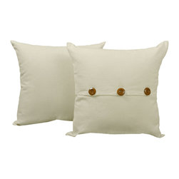 RoomCraft - Solid Color Throw Pillow Cover Set - White Cotton 14x14 - FEATURES: