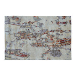 1800-Get-A-Rug - Modern Oriental Rug Hand Knotted Rug Mat Colorful Sh9267 - About Modern & Contemporary