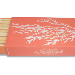 Coral Matches - Give her a favorite candle and top it off with a pretty matchbox that's perfect for summer!