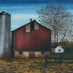 """Small Town Heart"" (Original) By Chelsea Franzer - This Painting Reminds Me Of Home. I Was Born And Raised In A Small Town With Cornfields Surrounding Me. Looking At This Painting Brings Me Back To My Childhood And The Ohio Air."