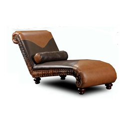 Chelsea Home Furniture - Chelsea Home Denver Chaise in Tempe Chestnut - Tempe Walnut - Denver Chaise in Tempe Chestnut - Tempe Walnut belongs to the Chelsea Home Furniture collection .