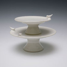 Contemporary Dessert And Cake Stands by Whitney Smith Pottery