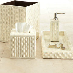modern bath and spa accessories by Horchow