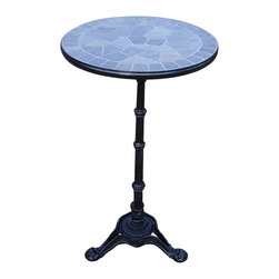 Oakland Living - Stone Art Bar Table, Black - Our stone art table will be a beautiful addition to your patio, balcony or outdoor entertainment area. Stone art table are perfect for any small space, or to accent a larger space.