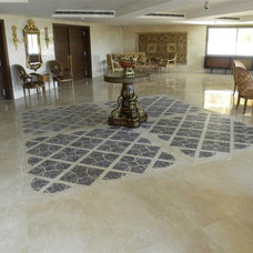 Mediterranean Home Office by NewZeugma Custom Luxury Mosaics and Iznik Tiles