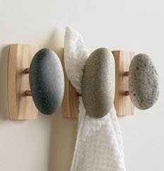 eclectic towel bars and hooks by VivaTerra