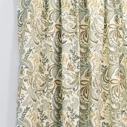 Home Decorators Collection - Custom Tab Top Curtain Panel - Create an informal but stylish look with our Custom Tab Top Curtain Panel. Mix and match different colors and designs from a variety of fabrics to customize your look. Available in a variety of colors, fabrics and designs. Hand or spot clean. Made in the U.S.A.