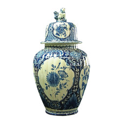 Petrus Regout - 1920 Blue & White Ginger Jar Vase - Product Details