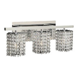 PLC Lighting - PLC Lighting PLC 72194 Three Light Crystal Bathroom Vanity Light Fixture from th - PLC Lighting PLC 72194 Contemporary / Modern Three Light Crystal Bathroom Vanity Light Fixture from the Rigga CollectionSince 1989, PLC Lighting, Inc. has continued to provide our customers with both contemporary and traditional lighting fixtures in a multitude of styles. Their products can be found in showrooms throughout North, Central and South America, as well as the Caribbean Islands. They furnish the finest residences, hotels, restaurants, and office complexes all over the world.Features: