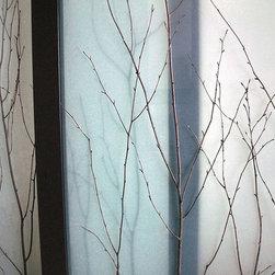 Birch Branch Thatch - Sliding Closet Doors / Room Dividers - Open | Close Doors