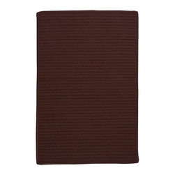 Colonial Mills - Colonial Mills Simply Home Solid H086 Chocolate Rug H086R144X180S 12x15 - Practical. Colorful. Versatile. Maintenance-free. Simply pick from 37 colors to find the perfect solid-color indoor/outdoor rug for your space.