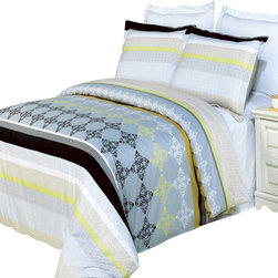 Bed Linens - South Gate Printed Multi-Piece Duvet Set Full/Queen 3PC Duvet Set - Enjoy the comfort and Softness of 100% Egyptian cotton bedding with 300 Thread count fiber reactive prints.*100% Egyptian cotton *300 Thread count *Reactive Print, lasts longer and looks like real live pictures .