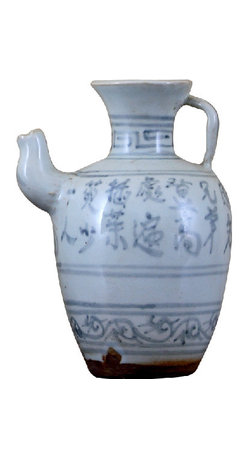 Oriental Danny - Antique blue and white ceramic jar - This is an antique blue and white ceramic jar. This jar used as oil jar.