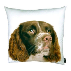 Lava - English Springer Spaniel 18X18 Decorative Pillow (Indoor/Outdoor) - 100% polyester cover and fill.  Suitable for use indoors or out.  Made in USA.  Spot Clean only