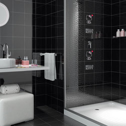 Hello Kitty Easy Tile Collection - The dream of every Hello Kitty's fan has come true: be with her anywhere, even in one's own home, decorating with irony and fun the spaces of the everyday living.