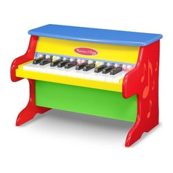 "Melissa and Doug 25 Key Learn to Play Piano - The greats didn't have the Melissa and Doug Learn to Play Piano in their day but they did develop a passion for music early. Encourage artistic exploration with this learn-to-play hardwood piano. It features 25 keys two full octaves and a color-coded songbook with nine kid-favorite songs. The songbook teaches the fundamentals but the real fun for your little one will come from reworking what they've learned and creating something entirely new. About Melissa & Doug ToysSince 1988 Melissa & Doug have grown into a beloved children's product company. They're known for their quality educational toys and items and have grown in double digits annually. The Melissa & Doug company has been named Vendor of the Year by such great retailers as FAO Schwarz Toys R Us and Learning Express and their toys have been honored as """"Toys of the Year"""" by Child Magazine FamilyFun Magazine and Parenting Magazine. Melissa & Doug - caring quality children's products."