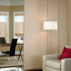 Bali® Natural Shades Cabo, Haven, Trinidad & Antigua - Enjoy casual elegance with natural woven shades from Bali.  Add a natural sophistication and style to your home while enjoying the benefits of superior light control and ease of use.  Each woven shade is made of carefully selected green materials, consisting of bamboo, reeds, and assorted grasses.  Create your perfect getaway with a variety of colors, textures, and grains to choose from.  Bali woven shades softly filter light into the home while giving the surrounding area a unique exotic look.