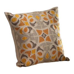 Zodax - Oujda Embroidered Cotton Throw Pillow by Zodax - Oujda Embroidered Cotton Throw Pillow by Zodax
