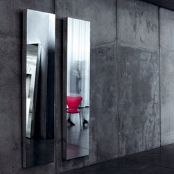 Reflect+ Nude Rectangular Unframed Mirror - Deknudt Mirrors - This mirror can stand against a wall as it has anti-slip protection
