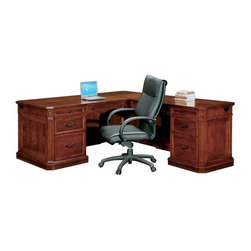 DMi Furniture - DMi Arlington Executive L-Shaped Desk-Right L-Desk - DMi Furniture - Executive Desks - 775057 - Updated classic design elements come together to create an exceptionally handsome refine look that is Arlington.