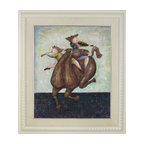Consigned Whimsical Children Painting, Version 1 - Vintage – Braciela Boulanger's print on board with fabric mat.