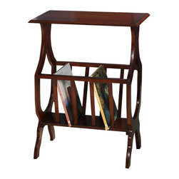 All Things Cedar - Magazine Rack Table - Classic Accents: A truly inviting selection of Classic Accent Furniture FEATURING Console Sofa Tables Wooden Wine Magazine Racks, Nesting Tables, and Glass Cherry Curio Cabinates. Item is made to order.