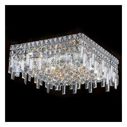 Worldwide Lighting - Worldwide Lighting W33618C16 Cascade 6 Light Flush Mount Ceiling Fixture - Features: