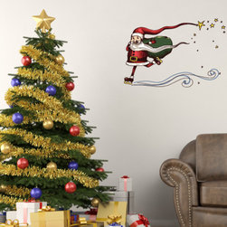 Christmas Santa Vinyl Wall Decal ChristmasSantaUScolor048; 12 in. - Vinyl Wall Decals are an awesome way to bring a room to life!