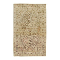 """Surya - Traditional Vintage Sample 1'6""""x1'6"""" Sample Cream-Brown  Area Rug - The Vintage area rug Collection offers an affordable assortment of Traditional stylings. Vintage features a blend of natural Cream-Brown  color. Hand Tufted of 100% New Zealand Wool the Vintage Collection is an intriguing compliment to any decor."""