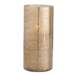"""Arteriors - Arteriors Home - Hagar Tall Hurricane - 2783 - Create a glow with hurricane with gold/brown reactive glass finish. Availabe in short and tall sizes. Features: Hagar Collection Tall Hurricane GoldBrown Reactive Some Assembly Required. Dimensions: H 16"""" x 7 1/2"""" Dia"""