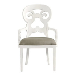 Stanley Furniture - Coastal Living Retreat-Wayfarer Arm Chair - Gentle curves, comfortable palm-sized arms, and a soft seat play well with the rolling sea.