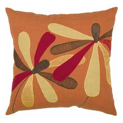 Rizzy Home - Orange and Red Decorative Accent Pillows (Set of 2) - T03833 - Set of 2 Pillows.