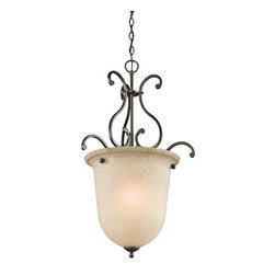 Kichler - Kichler 43229OZ Camerena Single-Bulb Indoor Pendant with Urn-Style Glass Shade - Product Features: